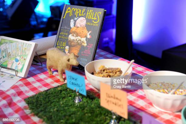 Aview of the Ample Hills Creamery ice cream on offer in the ATT Vulture Lounge during the 2017 Vulture Festival at Highline Stages on May 21 2017 in...