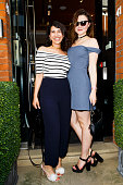 Avigail Collins and Amber Atherton attend the launch party of Annoushka Milestones an exhibition celebrating 25 years of designs on June 11 2015 at...