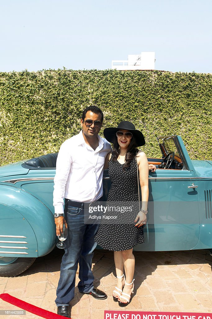 Avijit (L) and Karishma Singh Badnore at the Cartier 'Travel With Style' Concours 2013 at Taj Lands End on February 10, 2013 in Mumbai, India.