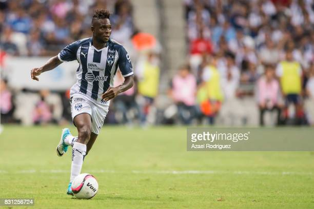 Aviles Hurtado of Monterrey drives the ball during the 4th round match between Monterrey and Chivas as part of the Torneo Apertura 2017 Liga MX at...