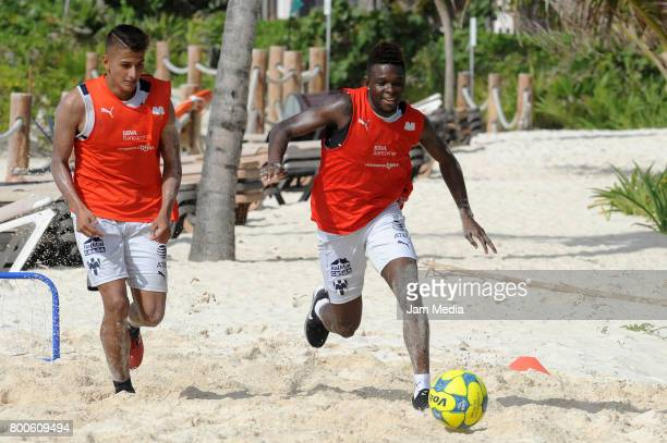 Aviles Hurtado of Monterrey plays the ball in the beach during the Pre Season training for the Torneo Apertura 2017 Liga MX at Hotel Gran Coral on...