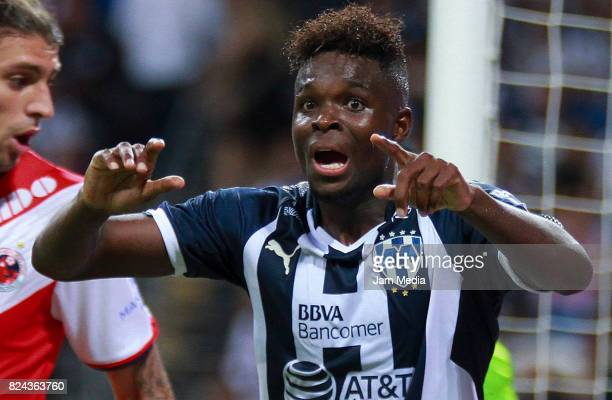 Aviles Hurtado of Monterrey reacts during the 2nd round match between Monterrey and Veracruz as part of the Torneo Apertura 2017 Liga MX at BBVA...