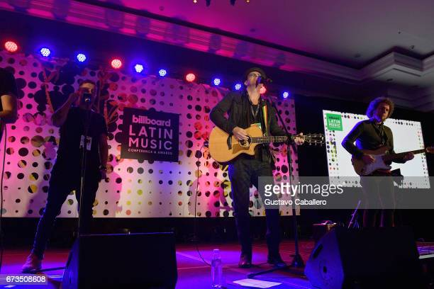 Avionica performs at the Billboard Latin Conference 2017 at Ritz Carlton South Beach on April 26 2017 in Miami Beach Florida