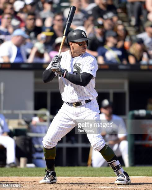 Avisail Garcia of the Chicago White Sox bats against the Detroit Tigers during the first game of a double header on May 27 2017 at Guaranteed Rate...
