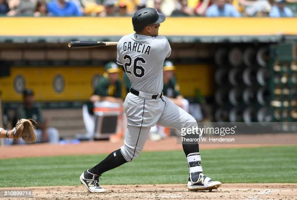 Avisail Garcia of the Chicago White Sox bats against the Oakland Athletics in the top of the second inning at Oakland Alameda Coliseum on July 5 2017...