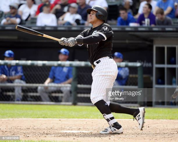 Avisail Garcia of the Chicago White Sox hits a tworun home run in the sixth inning against the Kansas City Royals on April 26 2017 at Guaranteed Rate...