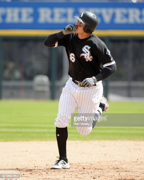 Avisail Garcia of the Chicago White Sox runs the bases after hitting a tworun home run in the sixth inning against the Kansas City Royals on April 26...