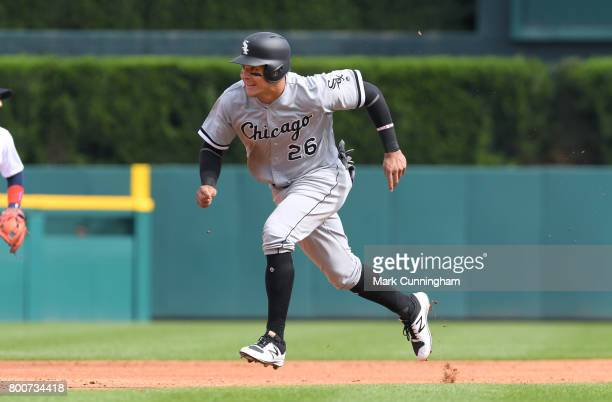 Avisail Garcia of the Chicago White Sox runs the bases during the game against the Detroit Tigers at Comerica Park on June 3 2017 in Detroit Michigan...