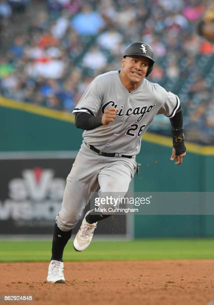 Avisail Garcia of the Chicago White Sox runs the bases during the game against the Detroit Tigers at Comerica Park on September 16 2017 in Detroit...