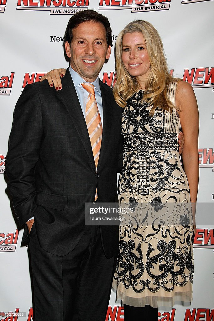 Aviva Drescher and Reid Drescher attend opening night of Andrea McArdle in 'NEWSical The Musical'at The Kirk Theater at Theatre Row on November 19, 2012 in New York City.