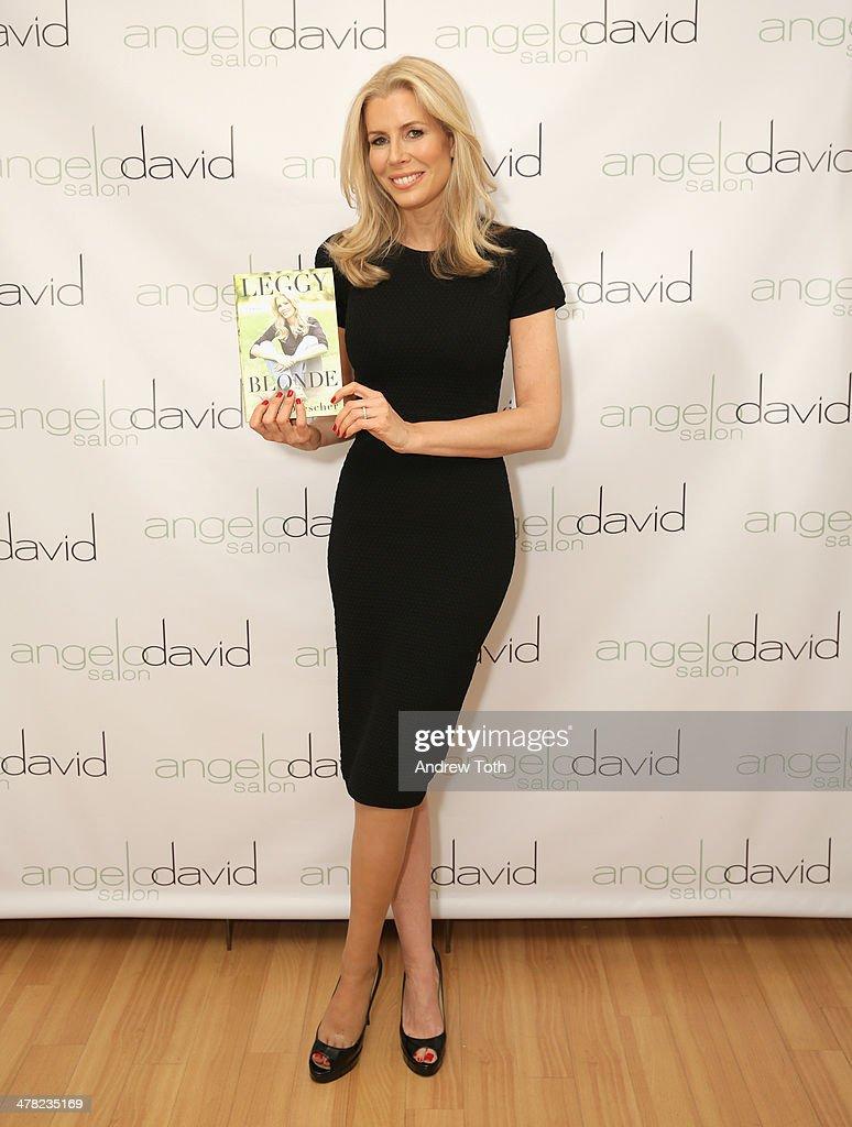 Aviva Drescher attends Aviva Drescher's 'Leggy Blonde' book launch celebration at Angelo David Salon on March 12, 2014 in New York City.