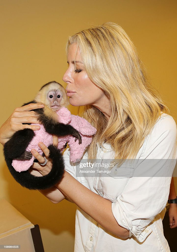 Aviva Drescher is seen during the Jungle Island VIP Safari Tour at Jungle Island on January 4, 2013 in Miami, Florida.