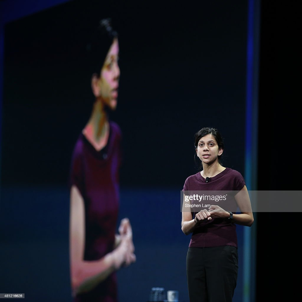 Avni Shah, Director of Product Management of Chrome at Google, speaks on stage during the Google I/O Developers Conference at Moscone Center on June 25, 2014 in San Francisco, California. The seventh annual Google I/O Developers conference is expected to draw thousands through June 26.
