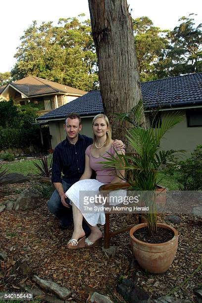 Avoca Beach couple Nigel and Melanie Wind in front of their newly renovated home on Hillside Road Avoca 8 December 2006 SMH Picture by TANYA LAKE