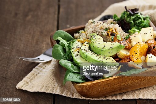 Avocado and Quinoa Salad with Chia Seed : Stock Photo