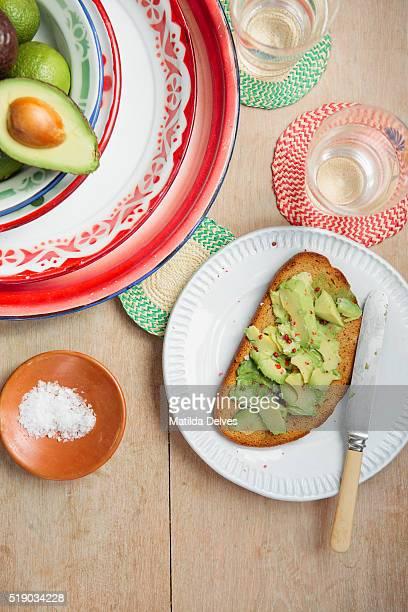 Avocado on toasted soda bread