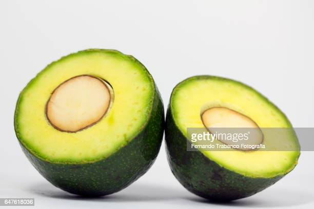 Avocado party in half and seed