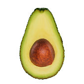 Fresh avocado on white background
