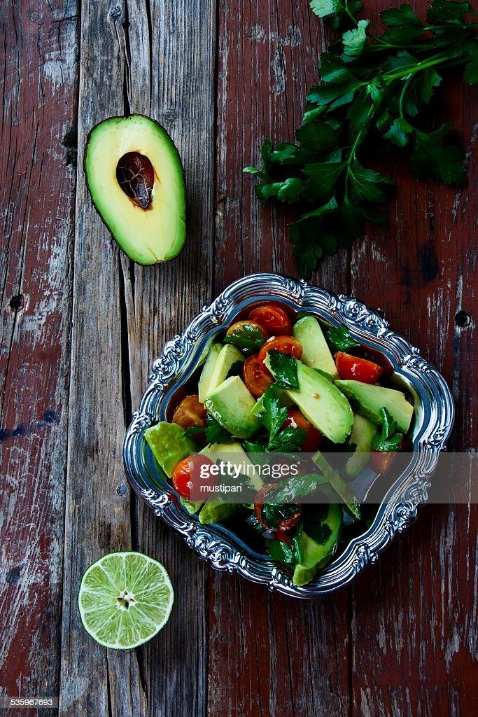 avocado salad : Stock Photo