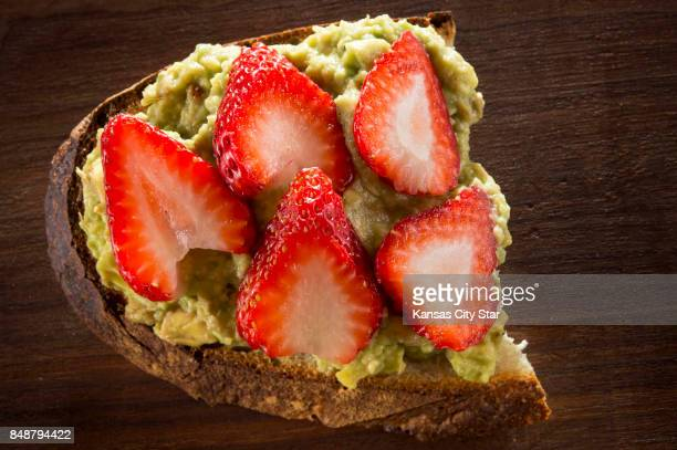 Avocado Toast with fresh strawberries