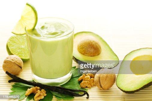 Avocado vanilla smoothie : Stock Photo