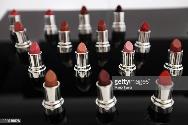 Avon lipstick products are displayed inside the newly completed US headquarters for Avon Products Inc on September 14 2011 in New York City The...