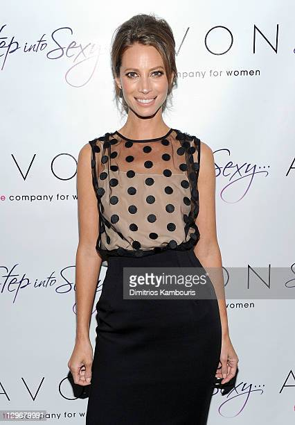 Avon Spokesperson Christy Turlington Burns attends Avon Step Into Sexy fragrance launch at Beauty Essex on October 19 2011 in New York City