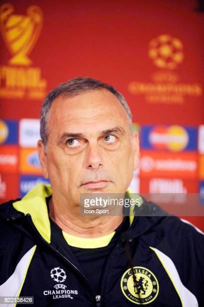 Avram GRANT Conferende de Presse et Entrainement Chelsea a Moscou Finale Champions League 2007/2008 Moscou