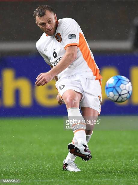 Avram Papadopoulos of Brisbane Roar in action during the AFC Champions League Group E match between Kashima Antlers and Brisbane Roar FC at Kashima...
