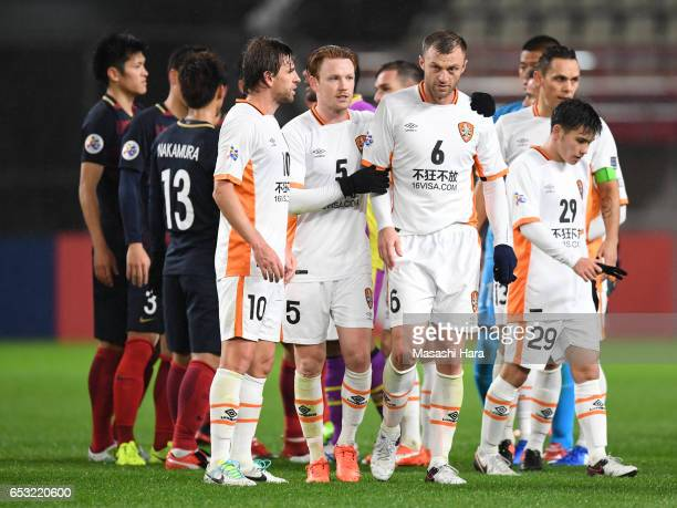 Avram Papadopoulos of Brisbane Roar looks on after the AFC Champions League Group E match between Kashima Antlers and Brisbane Roar FC at Kashima...