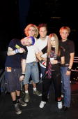 Avril Lavigne and band during 2002 MTV Video Music Awards Rehearsals Day 2 at Radio City Music Hall in New York City New York United States