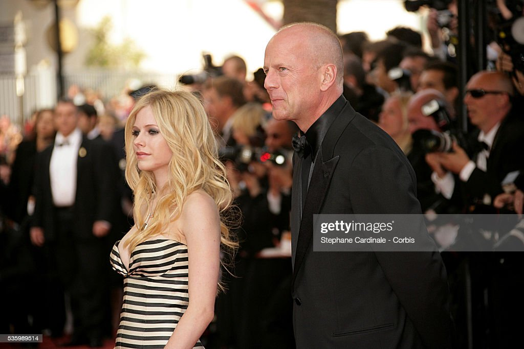 Avril Lavigne and Bruce Willis at the premiere of 'Over the Hedge' during the 59th Cannes Film Festival.