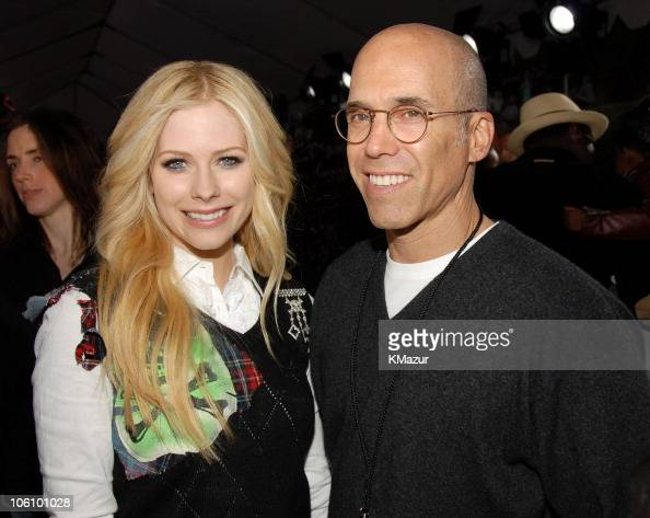 Avril Lavigne and Jeffrey Katzenberg during Nickelodeon's 19th Annual Kids' Choice Awards Orange Carpet at Pauley Pavilion in Westwood California...