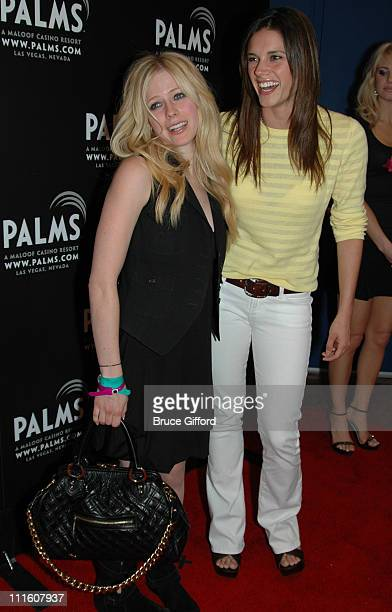 Avril Lavigne and Missy Peregrym during 1st Annual Fantasy Suite Block Party at Palms Casino Resort Fantasy Tower in Las Vegas NV United States