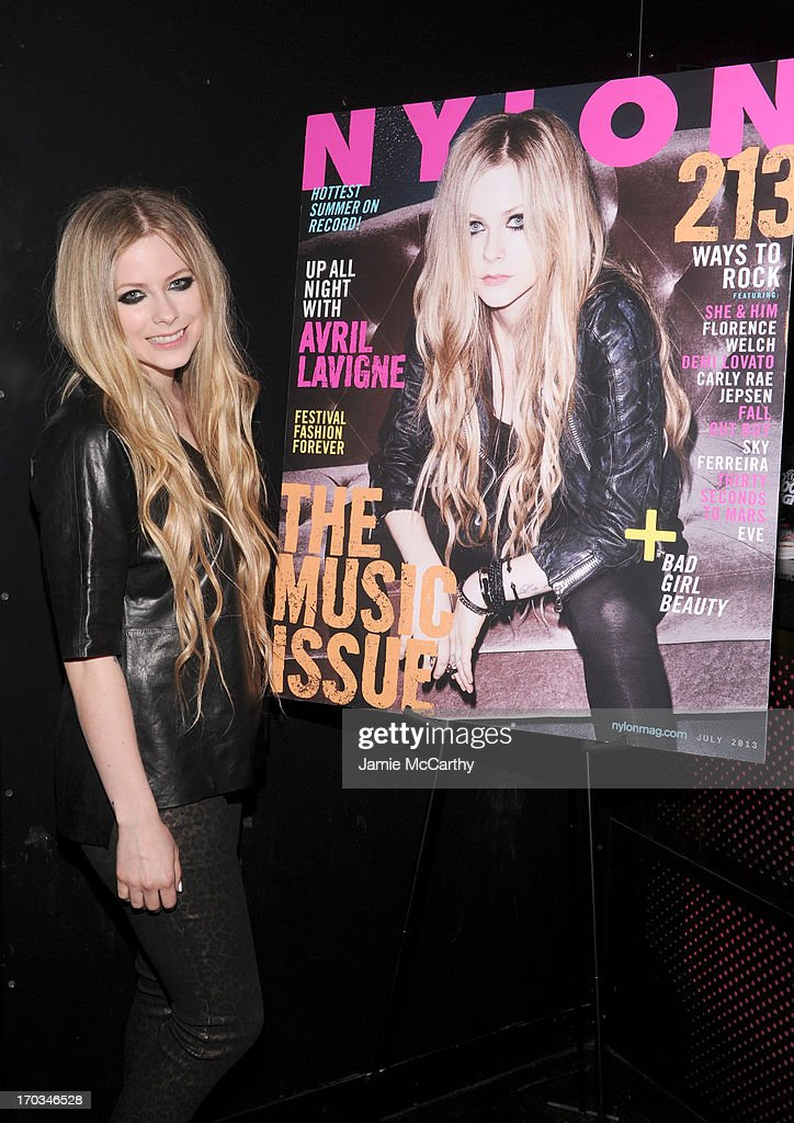<a gi-track='captionPersonalityLinkClicked' href=/galleries/search?phrase=Avril+Lavigne&family=editorial&specificpeople=171190 ng-click='$event.stopPropagation()'>Avril Lavigne</a> attends as NYLON And Aloft Hotels celebrate the June/July Music Issue With <a gi-track='captionPersonalityLinkClicked' href=/galleries/search?phrase=Avril+Lavigne&family=editorial&specificpeople=171190 ng-click='$event.stopPropagation()'>Avril Lavigne</a> at the Highline Ballroom on June 11, 2013 in New York City.
