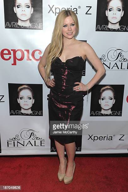 Avril Lavigne attends her new Album Release Party at the Finale on November 5 2013 in New York City