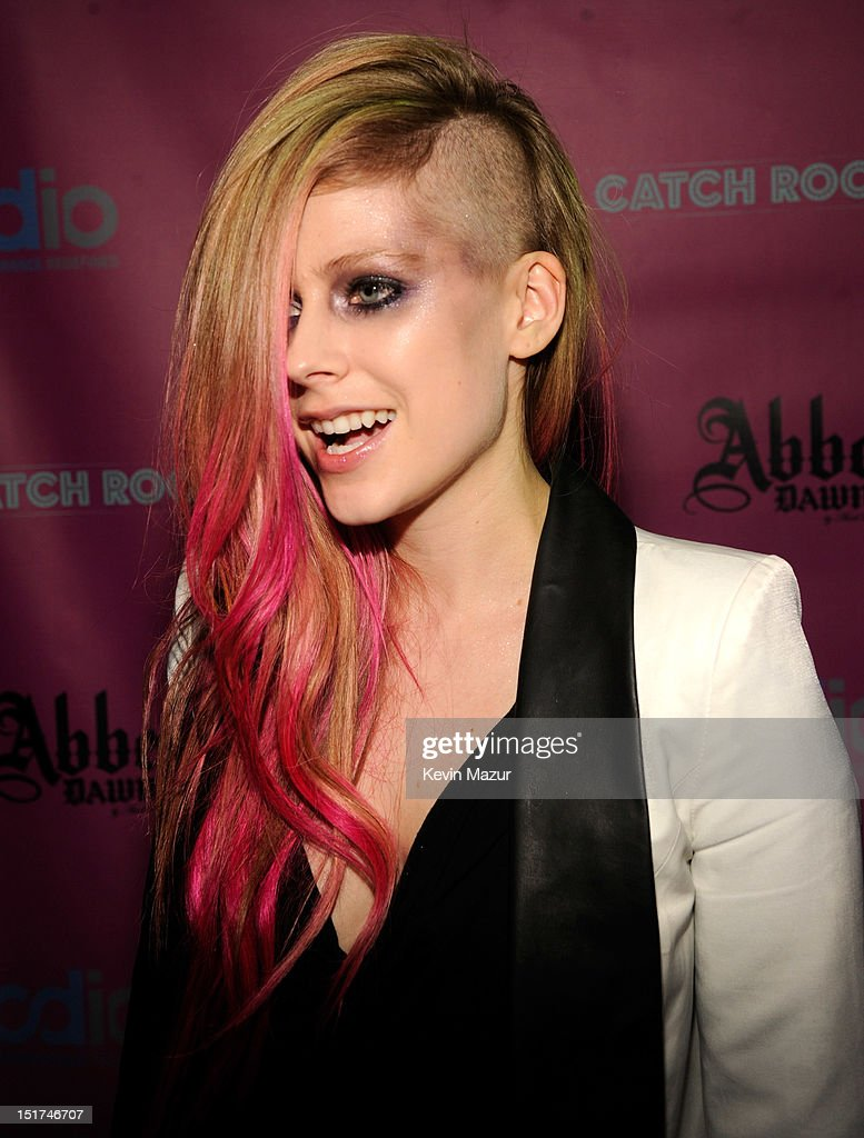 <a gi-track='captionPersonalityLinkClicked' href=/galleries/search?phrase=Avril+Lavigne&family=editorial&specificpeople=171190 ng-click='$event.stopPropagation()'>Avril Lavigne</a> attends the Abbey Dawn by <a gi-track='captionPersonalityLinkClicked' href=/galleries/search?phrase=Avril+Lavigne&family=editorial&specificpeople=171190 ng-click='$event.stopPropagation()'>Avril Lavigne</a> after party presented by Vodio at Catch Roof on September 10, 2012 in New York City.