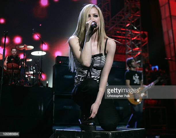 Avril Lavigne during 1027 KIIS FM's Jingle Ball at Arrowhead Pond in Anaheim CA United States