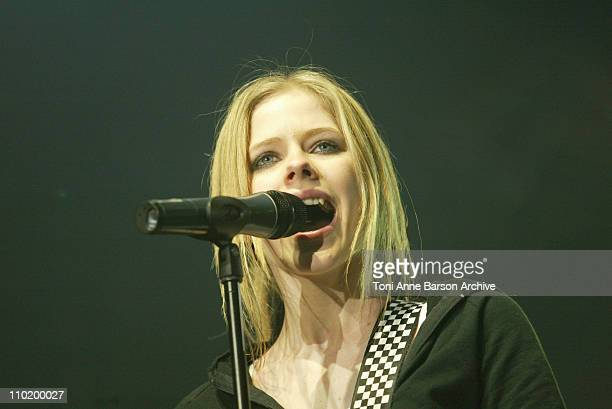 Avril Lavigne during Europe 2 Live Concert July 6 2004 at Bercy in Paris France