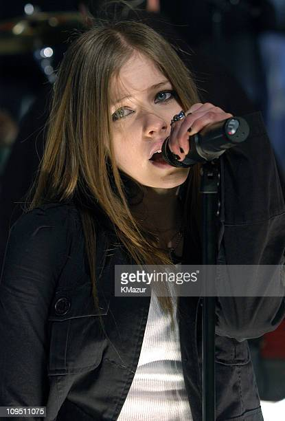 Avril Lavigne during MTV's New Year's Pajama Party 2003 Rehearsals Day Two at MTV Studios Times Square in New York City New York United States
