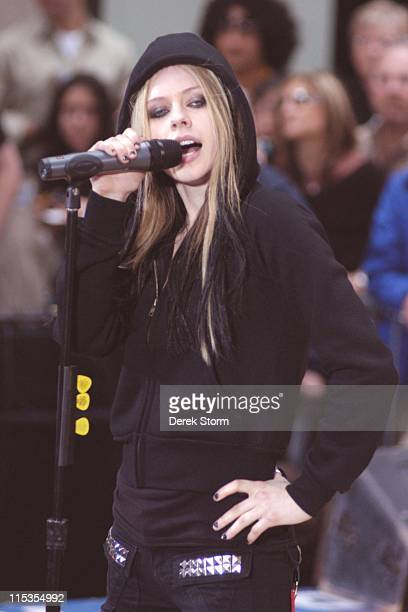 Avril Lavigne during The 'Today' Show's 2004 Summer Concert Series Avril Lavigne in New York City New York United States