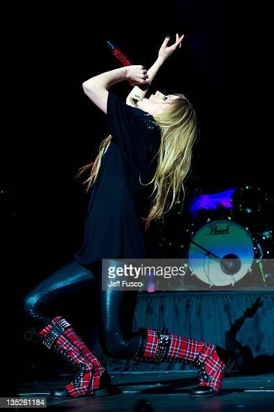 Avril Lavigne performs at the Q102 Jingle Ball 2011 at the Wells Fargo Center on December 7 2011 in Philadelphia Pennsylvania