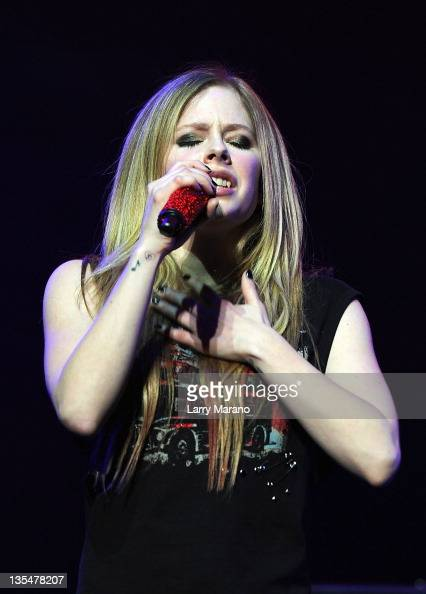 Avril Lavigne performs at the Y 100 Jingle Ball at BankAtlantic Center on December 10 2011 in Sunrise Florida