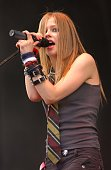 Avril Lavigne performs during Avril Lavigne In Concert Atlanta at Centennial Park in Atlanta Georgia United States
