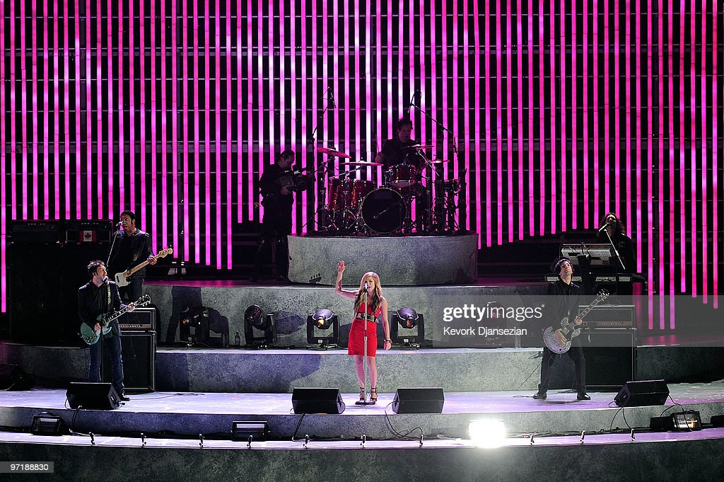 Avril Lavigne performs during the Closing Ceremony of the Vancouver 2010 Winter Olympics at BC Place on February 28, 2010 in Vancouver, Canada.