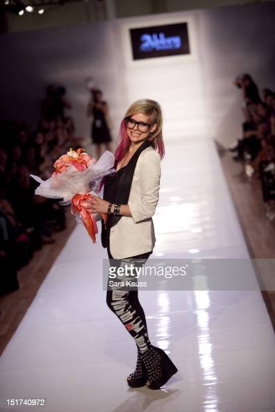 Avril Lavigne walks the runway during the Abbey Dawn By Avril Lavigne 2013 MercedesBenz Fashion Week Show at Style 360 at Met Pavilion on September...