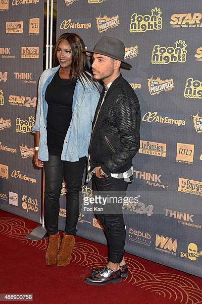 Awa Imani and Alban Bartoli attend the '35th Nuit des Publivores' at Grand Rex September 17 2015 in Paris France
