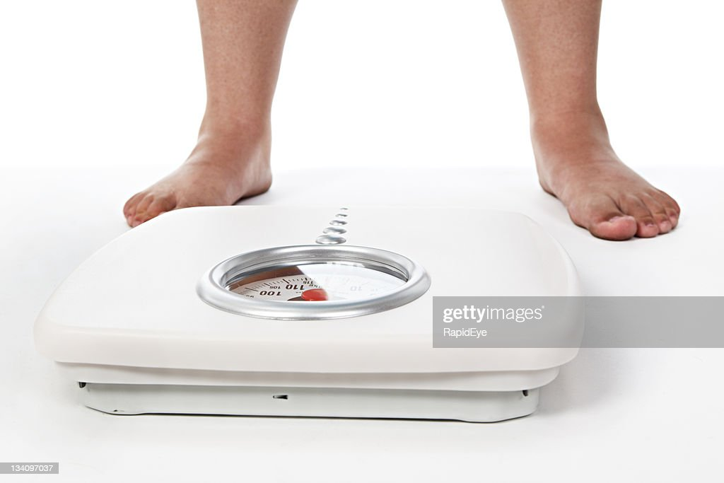 Awaiting the moment of truth! Bathroom scale