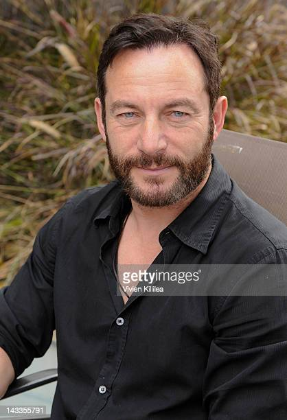 'Awake' star Actor Jason Isaacs poses during his visit to CNN hero Susan Burton's 'A New Way Of Life' reentry project on April 24 2012 in Los Angeles...