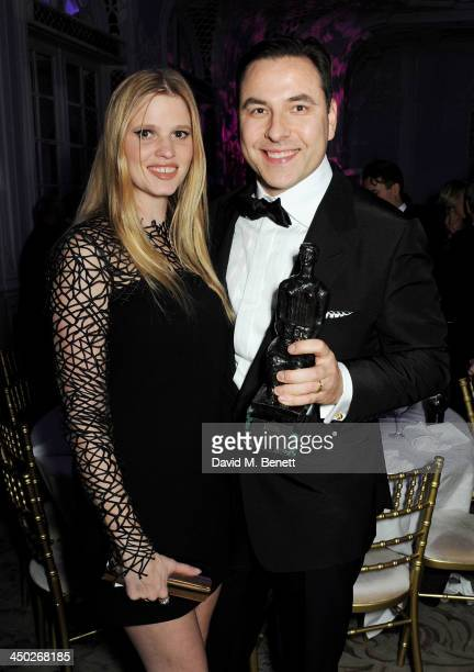 Award For Comedy winner David Walliams and Lara Stone attend an after party following the 59th London Evening Standard Theatre Awards at The Savoy...
